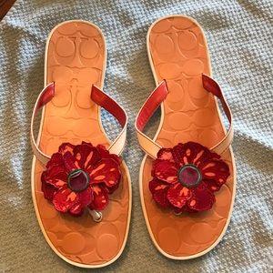 Coach designer sandals